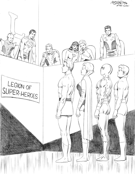 "Adventure Comics #346 2004 recreation (after Swan) 8 1/2"" x 11"""