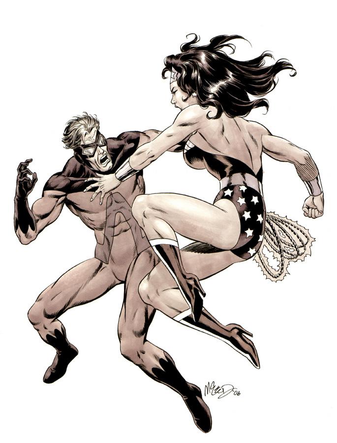 "Animal Man vs. Wonder Woman ('06) 10"" x 13"""