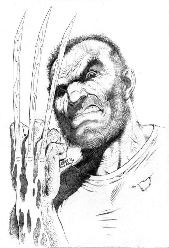 "Wolverine after McNiven 11"" x 14"" 2009"