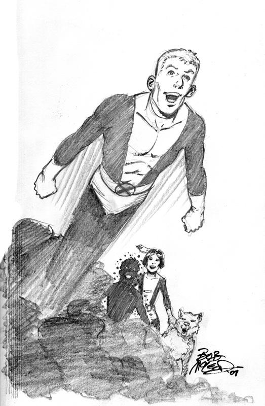 "New Mutants 5"" x 8"" 2007 book sketch"