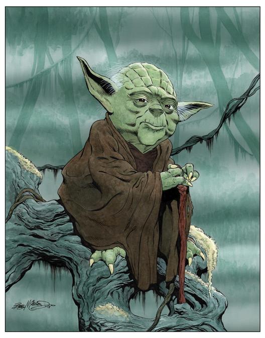 Yoda - Color Print