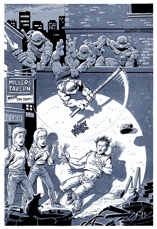 Teenage Mutant Ninja Turtles - BW Print