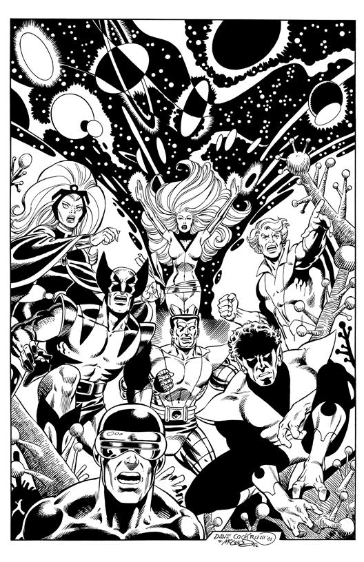 X-Men - BW Print5