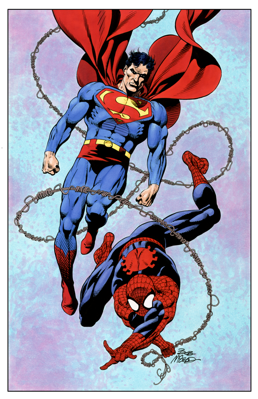 Superman and Spiderman - Color Print2