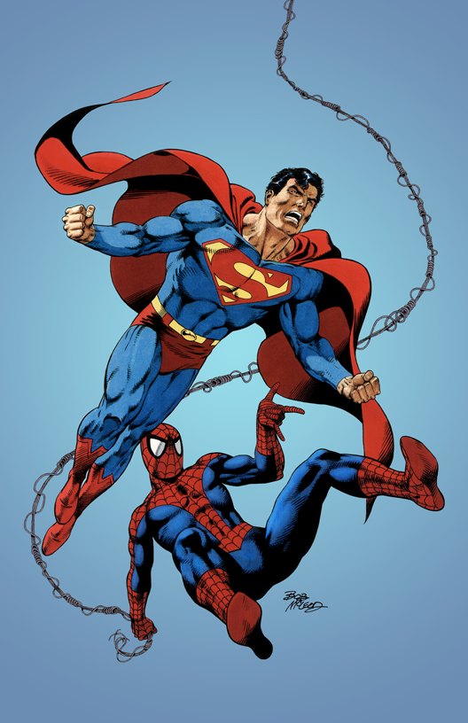 Superman and Spiderman - Color Print1
