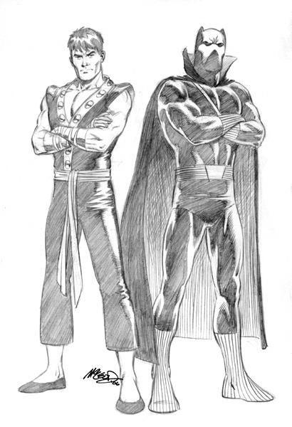 """Shang Chi & Black Panther 2006 9"""" x 12"""""""